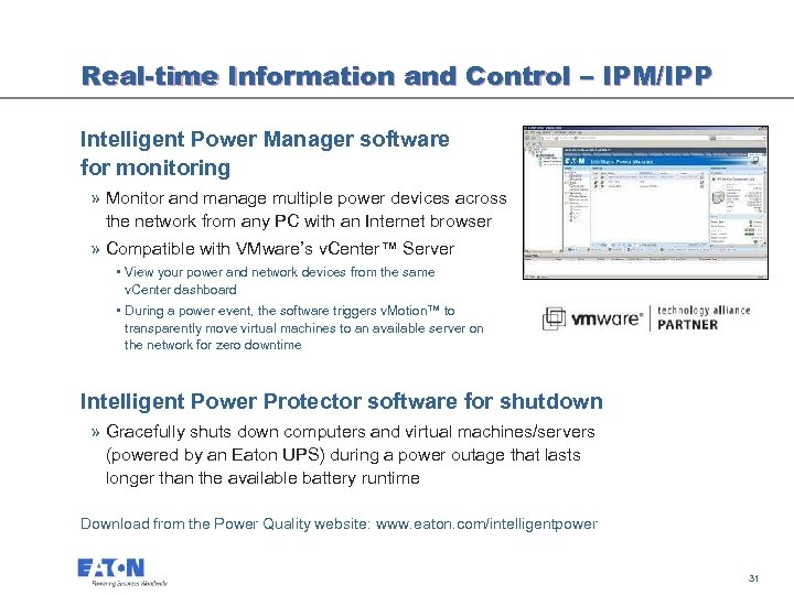 Real-time Information and Control – IPM/IPP Intelligent Power Manager software for monitoring » Monitor