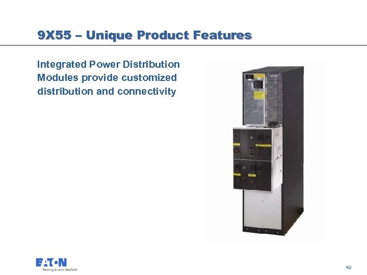 9 X 55 – Unique Product Features Integrated Power Distribution Modules provide customized distribution