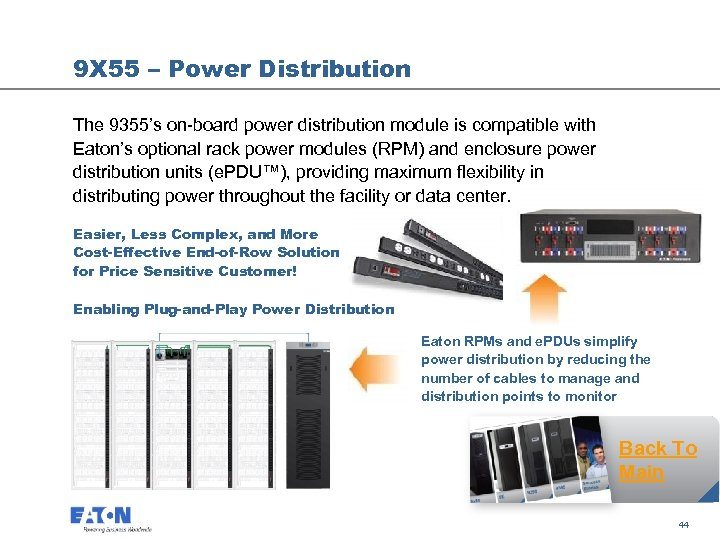 9 X 55 – Power Distribution The 9355's on-board power distribution module is compatible