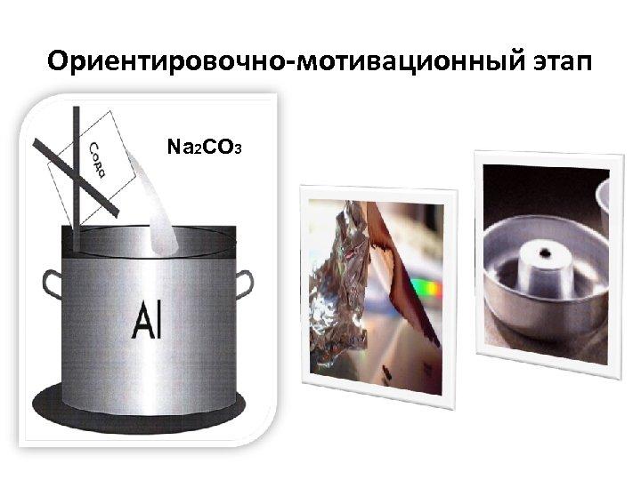 Ориентировочно-мотивационный этап Na 2 CO 3