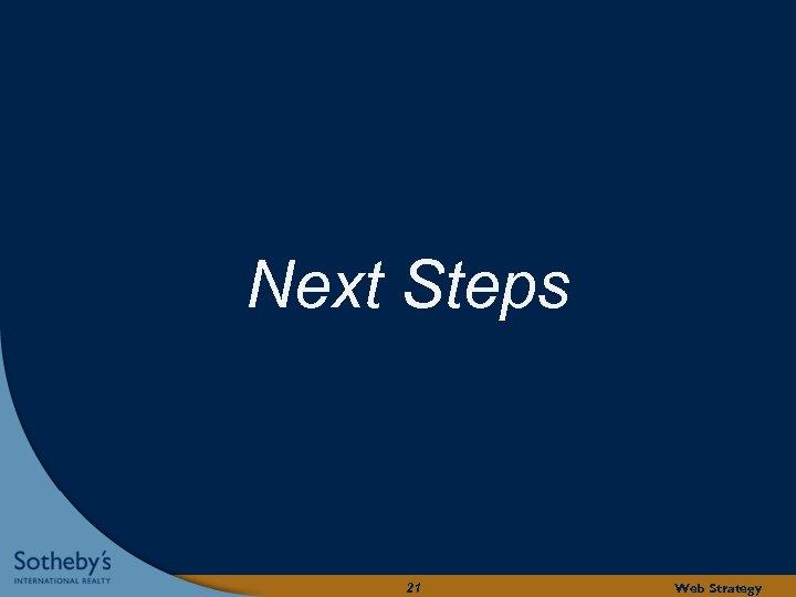 Next Steps 21 Web Strategy