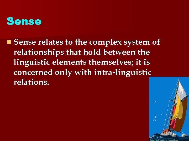 Sense n Sense relates to the complex system of relationships that hold between the
