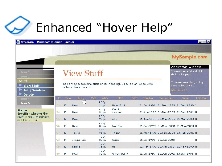 "Enhanced ""Hover Help"""