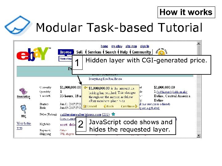 How it works Modular Task-based Tutorial 1 2 Hidden layer with CGI-generated price. Java.