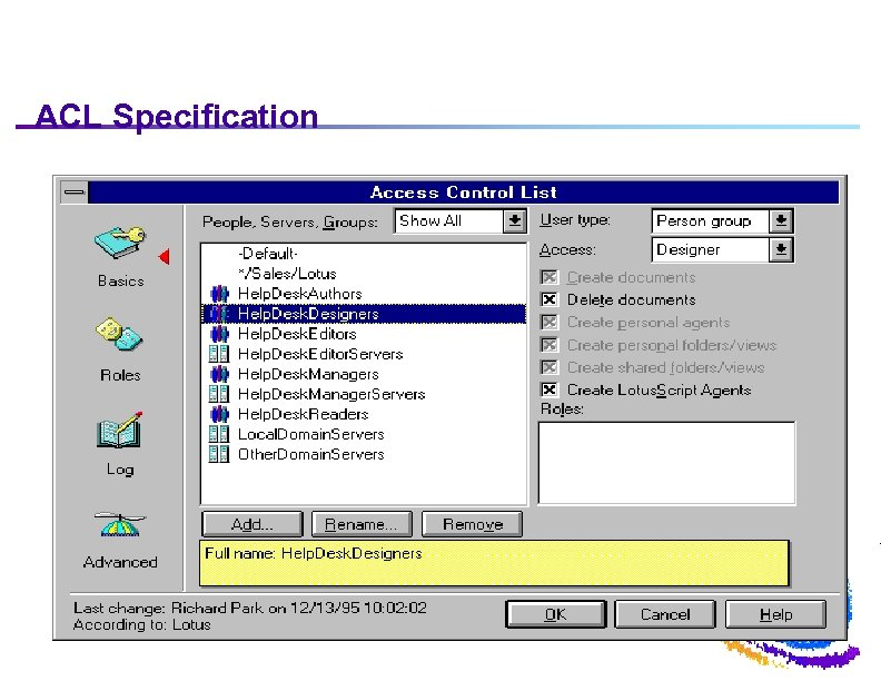 ACL Specification