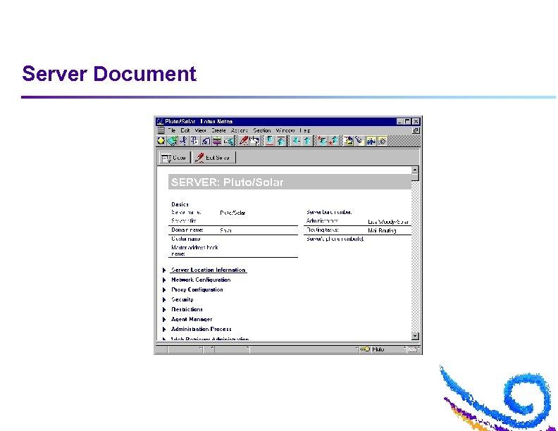 Server Document