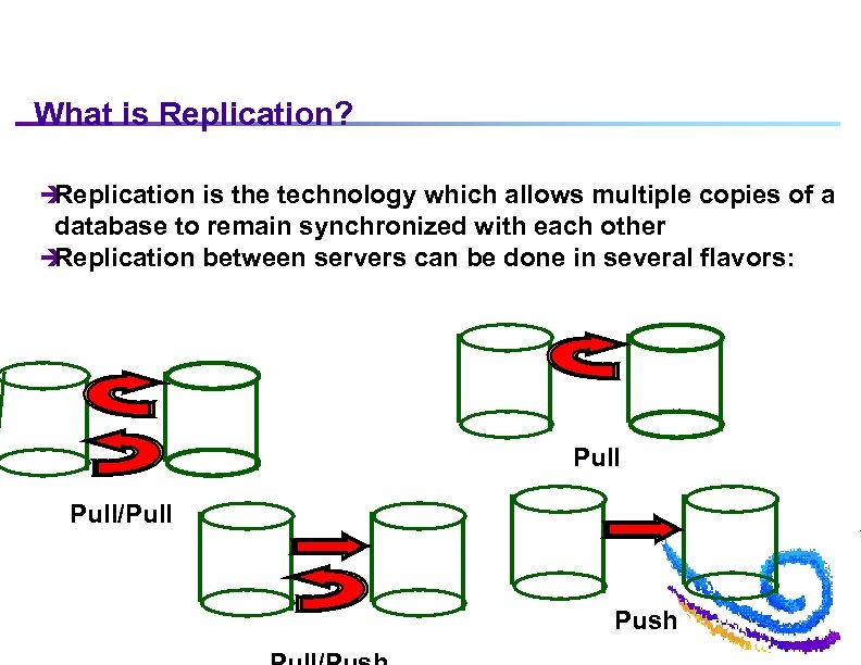 What is Replication? è Replication is the technology which allows multiple copies of a