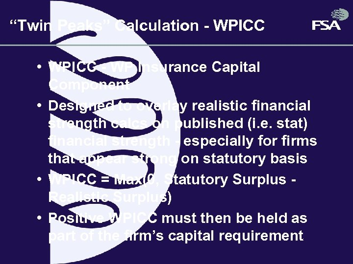 """Twin Peaks"" Calculation - WPICC • WPICC - WP Insurance Capital Component • Designed"