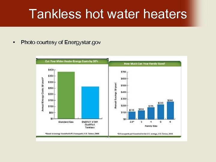 Tankless hot water heaters • Photo courtesy of Energystar. gov