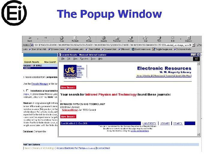 The Popup Window