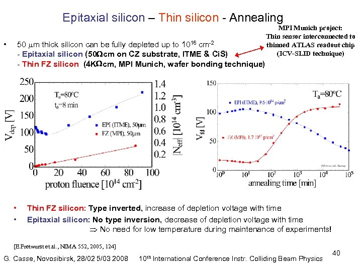 Epitaxial silicon – Thin silicon - Annealing 50 m thick silicon can be fully