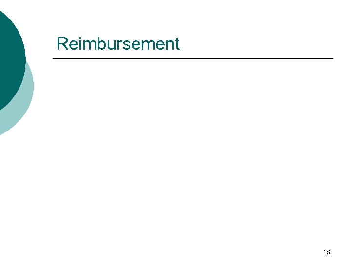 Reimbursement 18