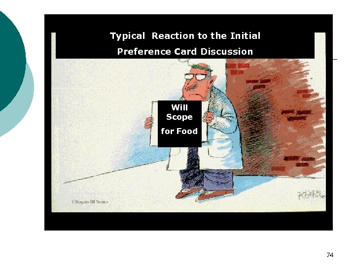 Typical Reaction to the Initial Preference Card Discussion Will Scope for Food 74
