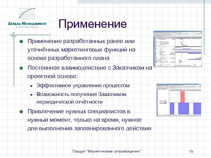 Применение разработанных ранее или уточнённых маркетинговых функций на основе разработанного плана Постоянное взаимодействие с
