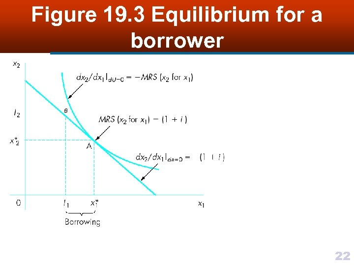 Figure 19. 3 Equilibrium for a borrower 22