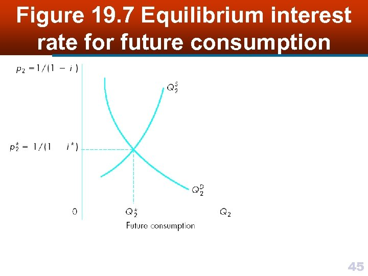 Figure 19. 7 Equilibrium interest rate for future consumption 45