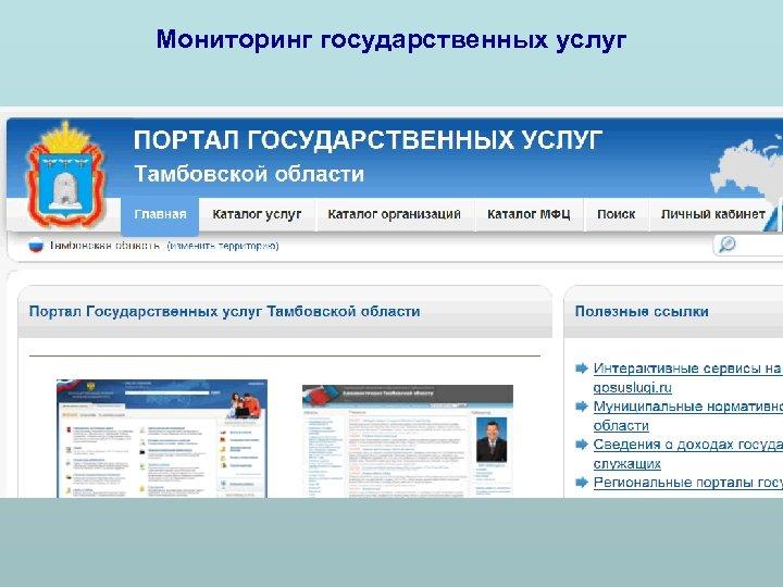Мониторинг государственных услуг