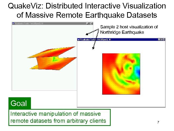 Quake. Viz: Distributed Interactive Visualization of Massive Remote Earthquake Datasets Sample 2 host visualization