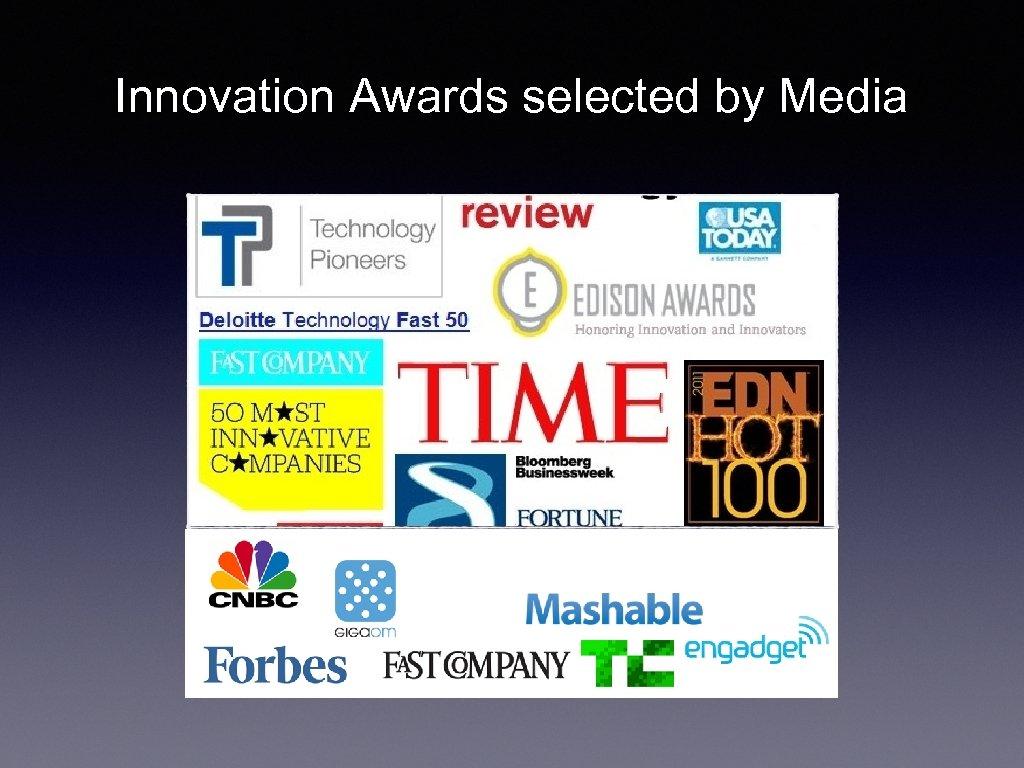 Innovation Awards selected by Media