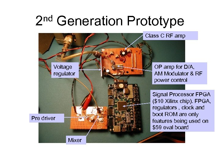2 nd Generation Prototype Class C RF amp Voltage regulator OP amp for D/A,