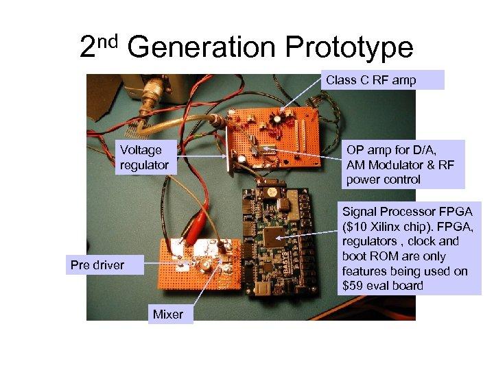 2 nd Generation Prototype Class C RF amp Voltage regulator OP amp for D/A,