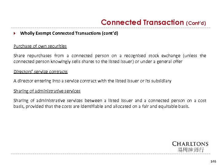 Connected Transaction (Cont'd) Wholly Exempt Connected Transactions (cont'd) Purchase of own securities Share repurchases