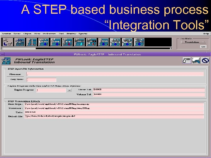 "A STEP based business process ""Integration Tools"""