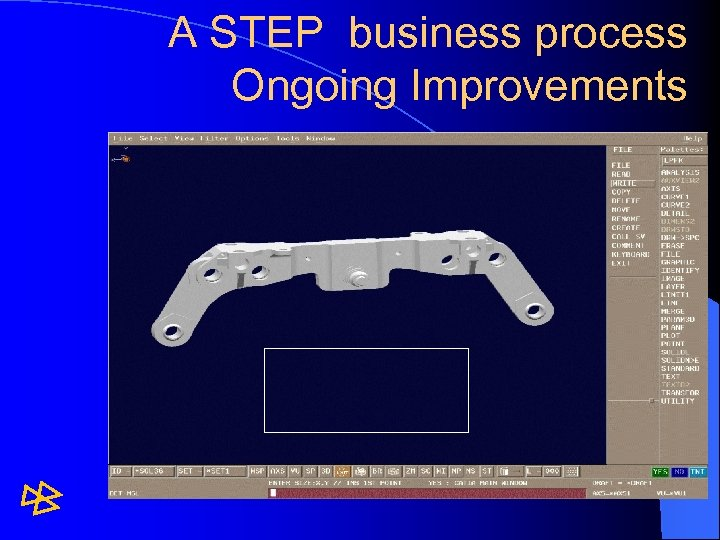 A STEP business process Ongoing Improvements