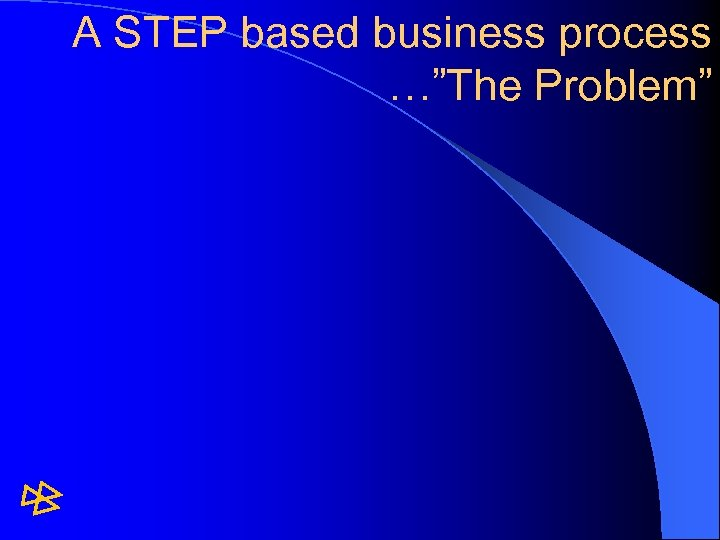 "A STEP based business process …""The Problem"""