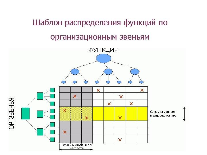 Шаблон распределения функций по организационным звеньям