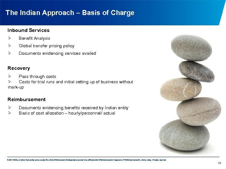The Indian Approach – Basis of Charge Inbound Services Ø Benefit Analysis Ø Global