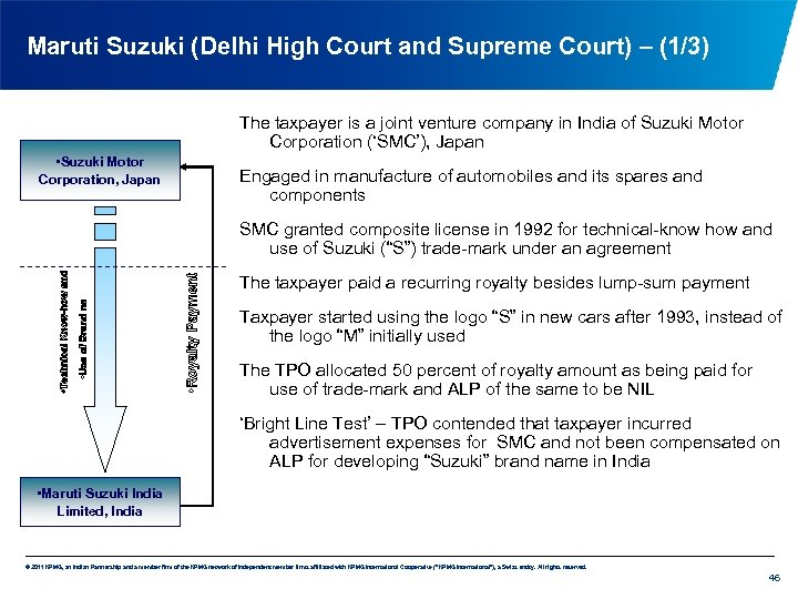 Maruti Suzuki (Delhi High Court and Supreme Court) – (1/3) The taxpayer is a