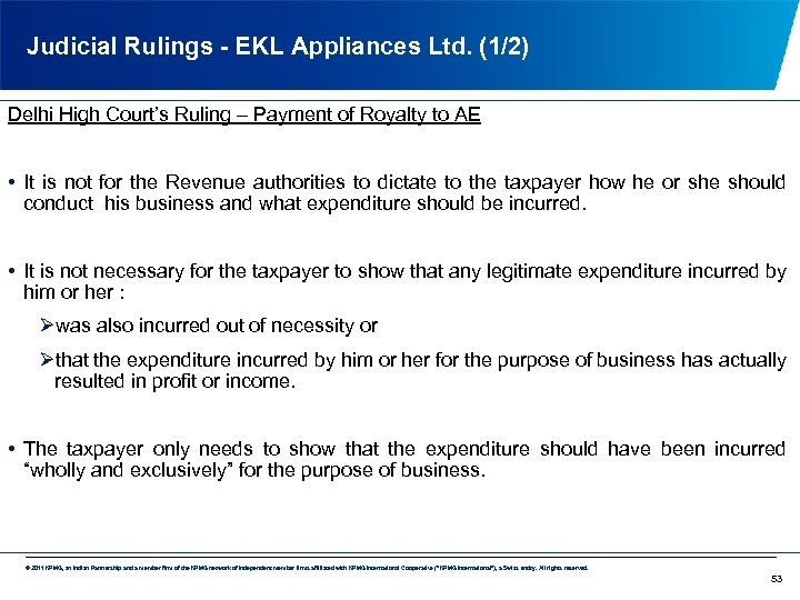 Judicial Rulings - EKL Appliances Ltd. (1/2) Delhi High Court's Ruling – Payment of