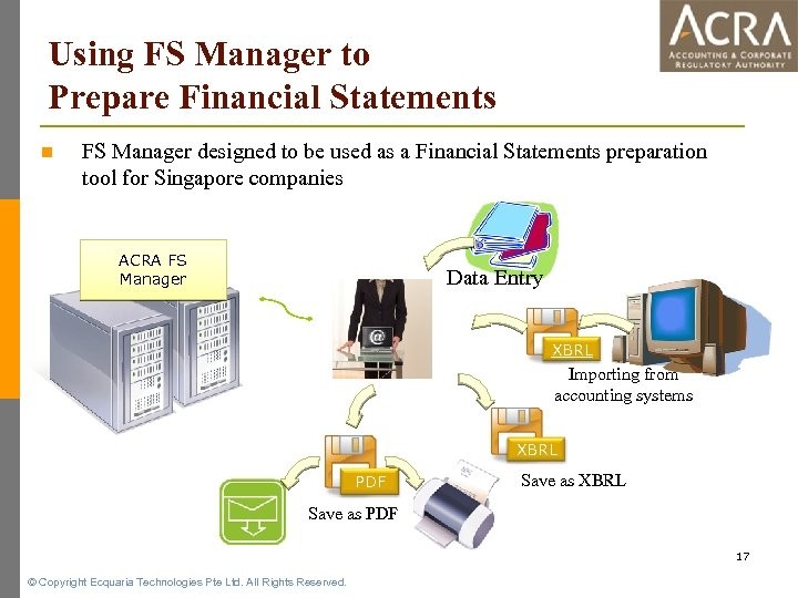 Using FS Manager to Prepare Financial Statements n FS Manager designed to be used