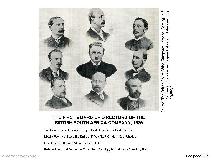 Source: The British South Africa Company Historical Catalogue & Souvenir of Rhodesia: Empire Exhibition,