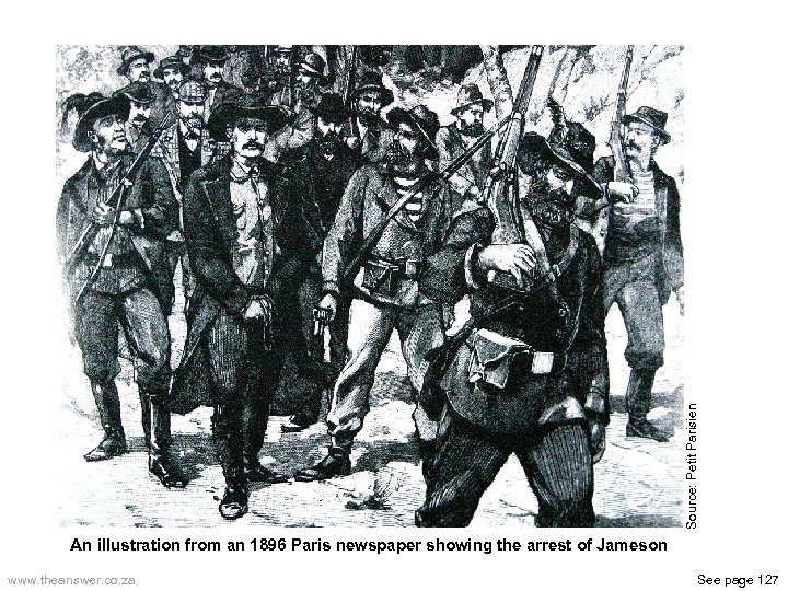 Source: Petit Parisien An illustration from an 1896 Paris newspaper showing the arrest of