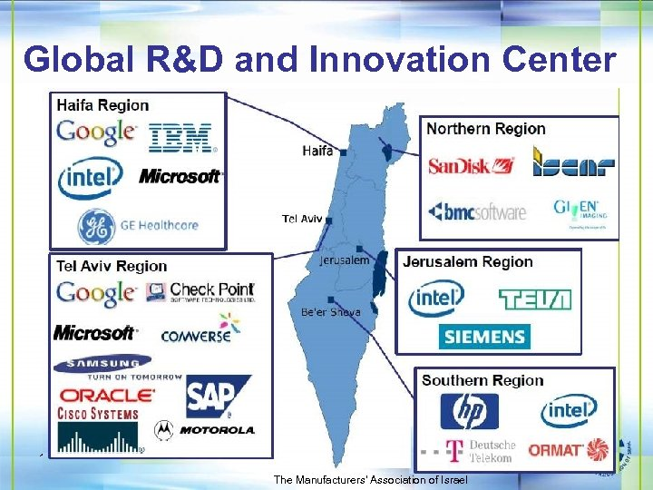 Global R&D and Innovation Center 10 The Manufacturers' Association of Israel
