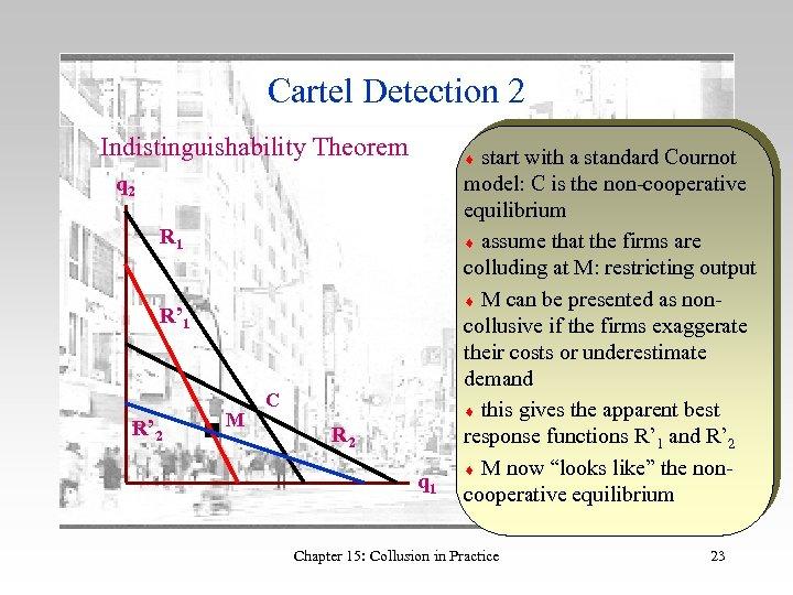 Cartel Detection 2 Indistinguishability Theorem q 2 R 1 R' 2 M start with
