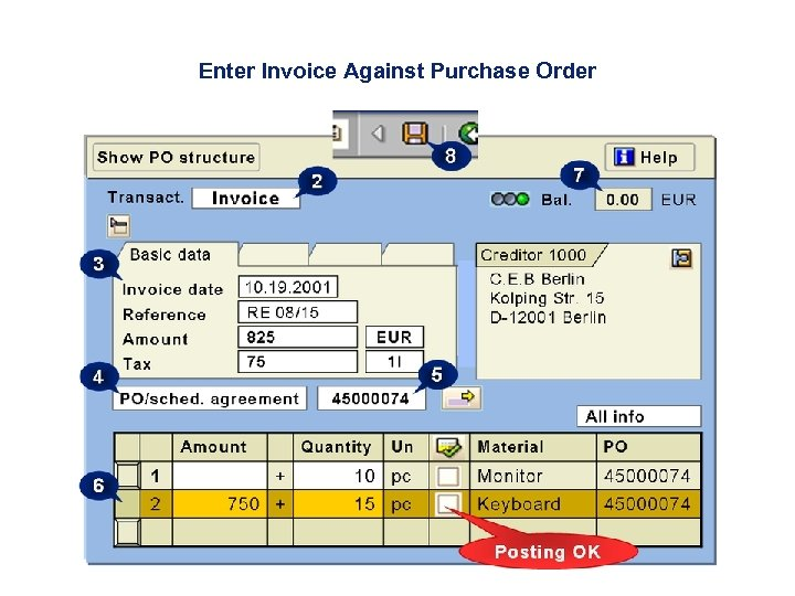 Enter Invoice Against Purchase Order
