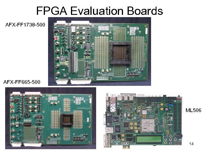 FPGA Evaluation Boards AFX-FF 1738 -500 AFX-FF 665 -500 ML 506 14