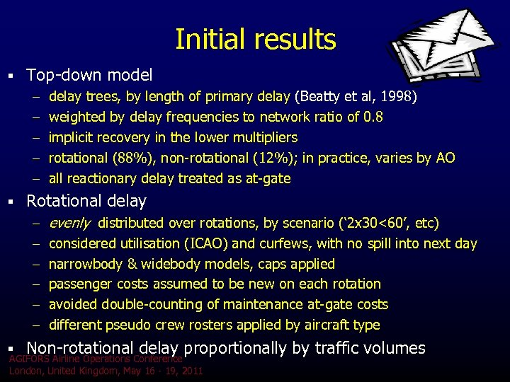 Initial results § Top-down model – delay trees, by length of primary delay (Beatty