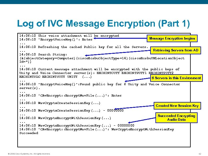 Log of IVC Message Encryption (Part 1) 14: 06: 10 This voice attachment will