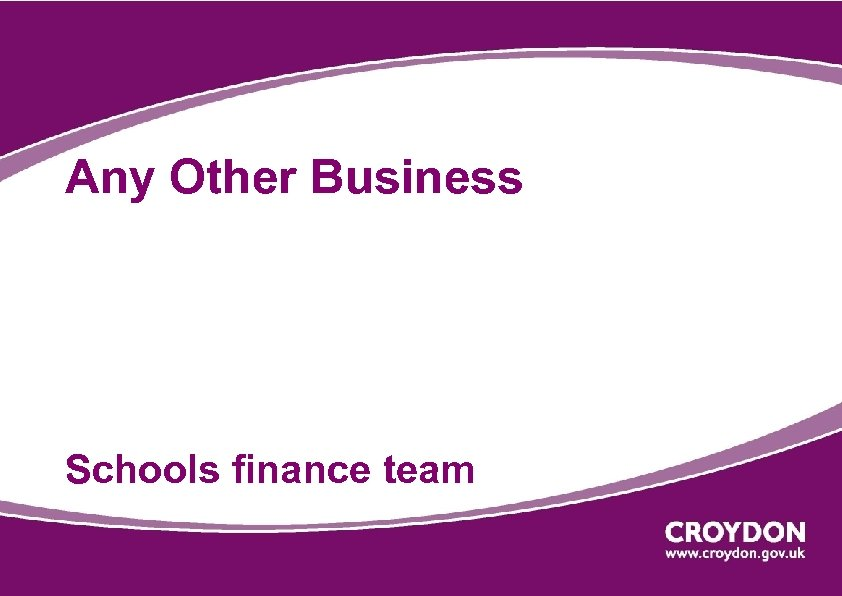 Any Other Business Schools finance team