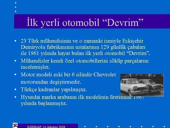 """İlk yerli otomobil """"Devrim"""" • 23 Türk mühendisinin ve o zamanki ismiyle Eskişehir Demiryolu"""