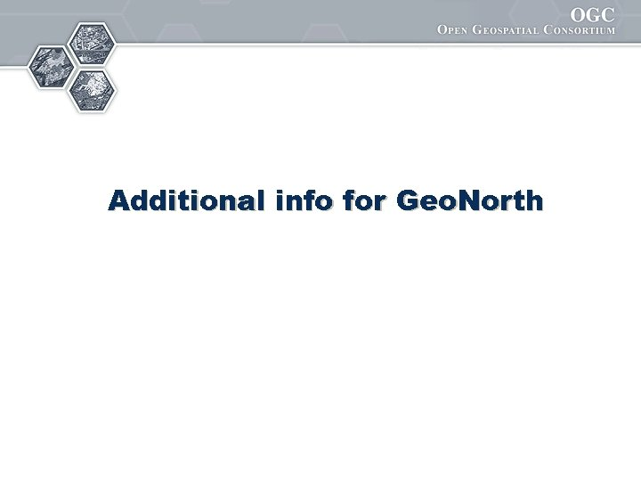 Additional info for Geo. North