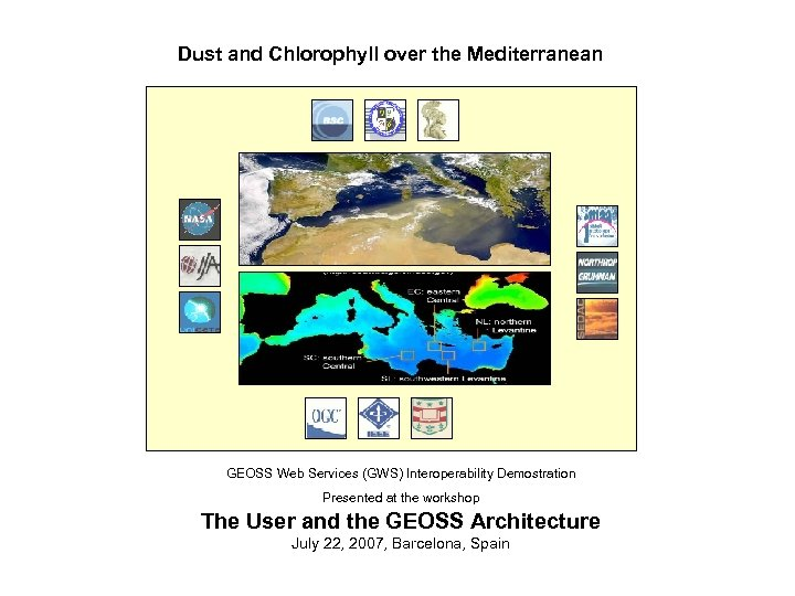 Dust and Chlorophyll over the Mediterranean GEOSS Web Services (GWS) Interoperability Demostration The User