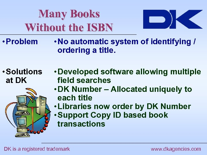 Many Books Without the ISBN • Problem • No automatic system of identifying /
