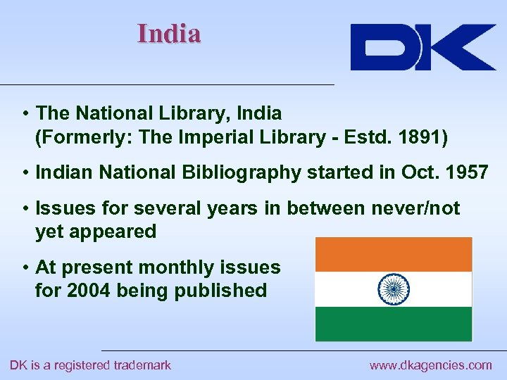 India • The National Library, India (Formerly: The Imperial Library - Estd. 1891) •