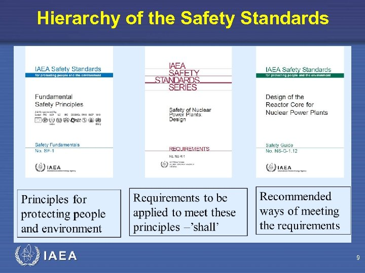 Hierarchy of the Safety Standards 9