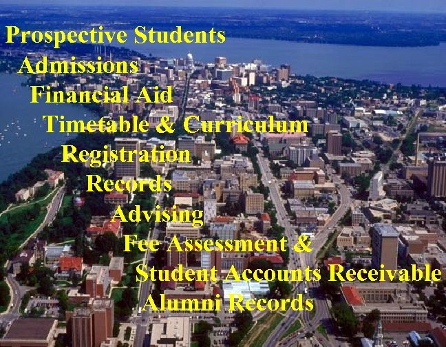 Prospective Students Admissions Financial Aid Timetable & Curriculum Registration Records Advising Fee Assessment &